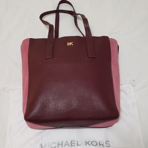 Michael by Michael Kors Leather Tote w/ 18k Gold